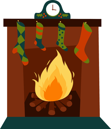 mantle: Celebrate your Christmas with this wide range of Christmas fireplace accessories deigns by embroidery patterns