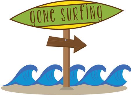 ビーチ、サーファーズへようこそ!サーフズ アップために、ボードをつかむ! タオルやシャツに追加に最適です。  イラスト・ベクター素材