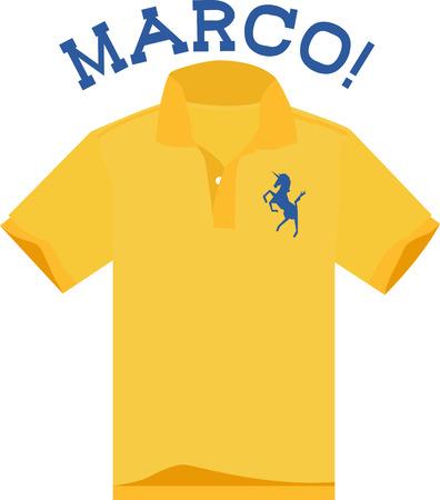 폴로 셔츠는 스마트와 캐주얼의 차이를 완벽하게 메워 줄 수 있습니다. 이 디자인은 액자 자수, 남성 룸 장식 등 완벽한 디자인입니다! 일러스트