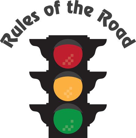 이 배너 디자인과 프레임 자수 학교에서 아이들에게 교통 안전의 중요성을 가르쳐!