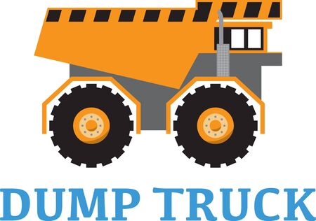 Add to the arsenal of trucks for your vehicle lovers, with this design on t-shirts, kids room decor and more. Illustration