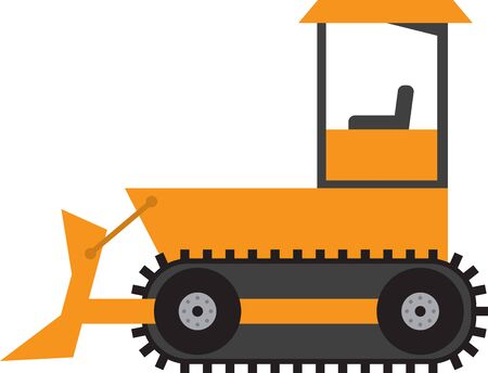 dozer: Add to the arsenal of trucks for your vehicle lovers, with this design on t-shirts, kids room decor and more. Illustration