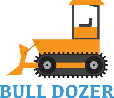 crawler tractor: Add to the arsenal of trucks for your vehicle lovers, with this design on t-shirts, kids room decor and more. Illustration
