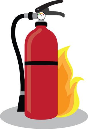 중요: Teach the importance of fire safety to children at schools with this design on banners and framed embroidery! 일러스트