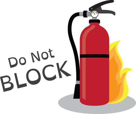 Teach the importance of fire safety to children at schools with this design on banners and framed embroidery! Illustration