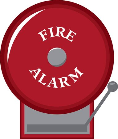 Teach the importance of fire safety to children at schools with this design on banners and framed embroidery! Иллюстрация