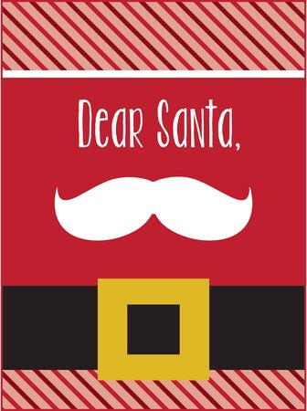 kris kringle: Dont mess with the mustache!  This stylish accent is great to spread a little merry on towels, linens, and pockets on your holiday projects!