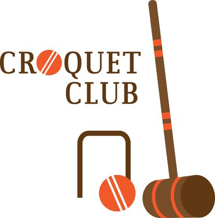 wicket: Looking for the perfect Birthday or Christmas gift Embroider this design on clothes, towels, pillows, gym bags, quilts, t-shirts, jackets or wall hangings for your croquet enthusiasts!