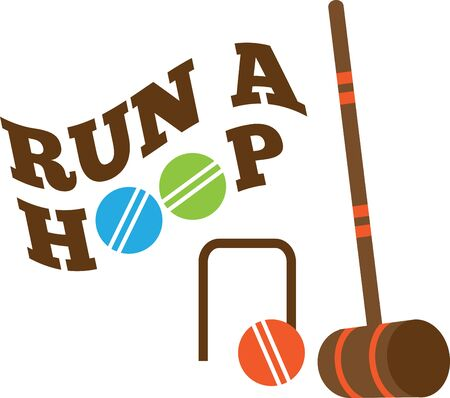 Looking for the perfect Birthday or Christmas gift Embroider this design on clothes, towels, pillows, gym bags, quilts, t-shirts, jackets or wall hangings for your croquet enthusiasts!