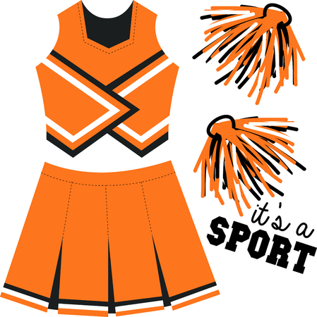 sports clothing: Got spirit Get fired up and ready to win with this charming design on t-shirts, hoodies, sweatshirts and jackets for your team for the next event!