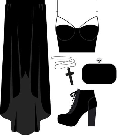 revamp: Are you into goth  Revamp your wardrobe with this design on throw pillows, wall decor, framed embroidery and more! Illustration
