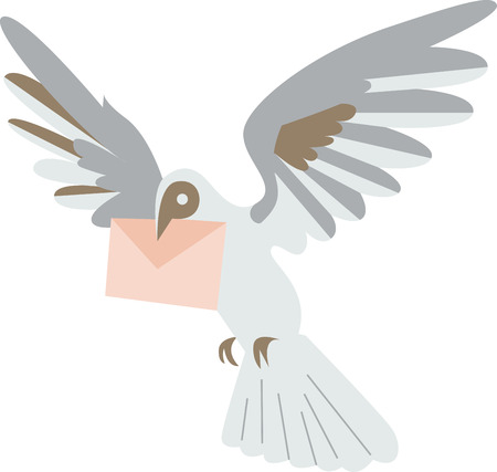 carrier pigeons: Sweeten up your Valentines Day and show some love with this design on your holiday projects.