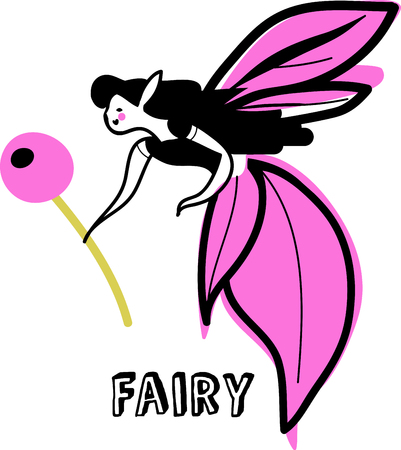 Get lost in the land of fairies and pixie dust with this design on childs bedroom decor and other projects!