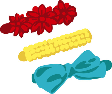 hair pins: Accessorize to your hearts desire.  Get this fabulous yet functional design on your indoor projects and add personality to your style! Illustration