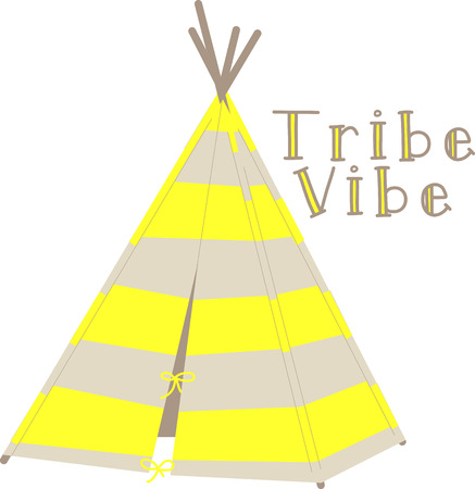 tipi: Transform your projects into the ultimate free spirit this colorful, fun native inspired design on blankets, throws, bedspreads and more!