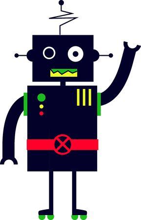 Questo piccolo cute disegno sarà perfetto per il vostro piccolo amante robot su t-shirt, felpe, cappelli, warm-up e molto altro ancora! Archivio Fotografico - 48830902