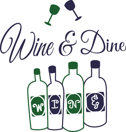 vino: Time to celebrate with this perfect design to please the vino connoisseur! This cool design will look good on cocktail napkins, kitchen decor and more! Illustration