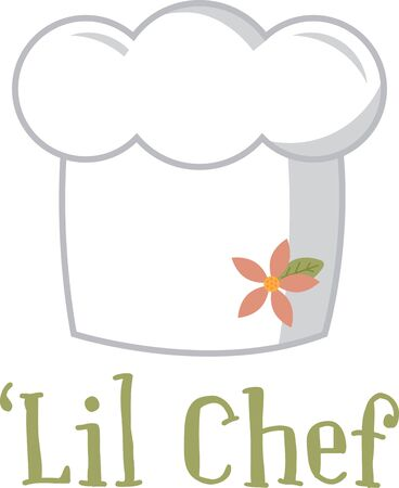Spice up your kitchen decor and chef's apparel with this design on kitchen linen, chef coats, apron and hats. 向量圖像