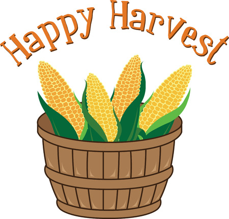 bushel: Add some seasonal spice to your project with this harvest-themed design on clothing, tablecloths, napkins and gifts. Illustration