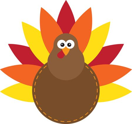 gobbler: Is your table ready for turkey dinner This festive design is perfect on gifts, table runners, kitchen linens, home decor and on all things Thanksgiving. Illustration