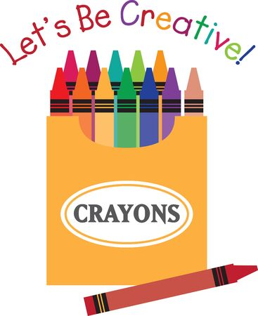 crayons: Always a back to school staple, this design is perfect on pencil bags, back packs, t-shirts and more.