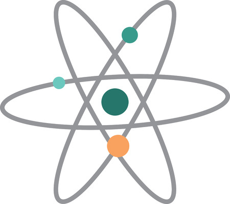 electrons: The feeling of awed wonder that science can give us is unparalleled.  This design is perfect for your science geeks on t-shirts, lab coats, shirts, jackets and more. Illustration
