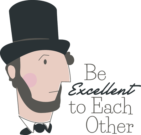 honest abe: Draw inspiration from this design of one of the outstanding presidents of the United States with this design on school projects!