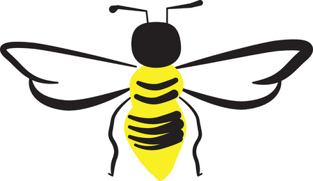 Looking for a way to brighten up for spring  Wake your room up instantly with this eye-catching busy bee design! Ilustracja
