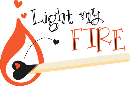 Love is the flame that sets your hearts on fire!  Celebrate the month of love with this design on your Valentines projects.