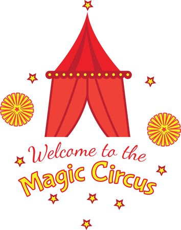 excitement: Create some excitement in the nursery and stitch a circus onto childrens quilts, blankets, linens and more!