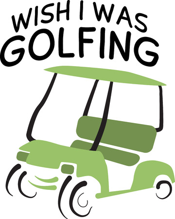 It's tee time!  This simple design will make a stylish statement on clothing, jackets, totes and more for your golf enthusiasts! Ilustração