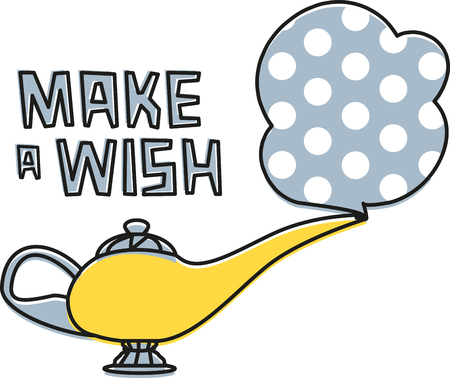 grant: Grant yourself a wish today!  This fun fairy tale design will be perfect for little ones on t-shirts, hoodies, hats, warm-ups and more.