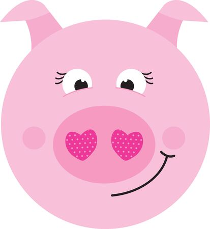 oink: Sweeten up your Valentines Day and show some love with this design on your holiday projects.