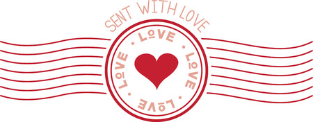 postmark: Love is in the air!  Set your hearts aflutter with this design on your holiday projects! Illustration