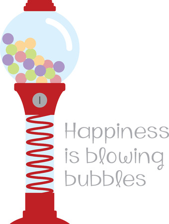 Costs a quarter for a drop of happiness.  Be blown away with this design on t-shirts, kids room decor and more.