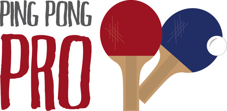 Looking for the perfect Birthday or Christmas gift Embroider this design on clothes, towels, pillows, gym bags, quilts, t-shirts, jackets or wall hangings for your ping pong enthusiasts! Illustration