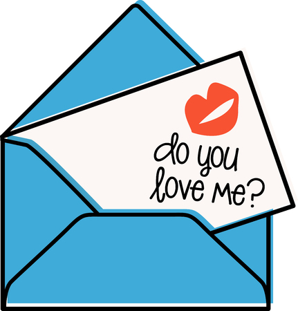 mail me: Love is in the air!  Set your hearts aflutter with this design on your holiday projects! Illustration
