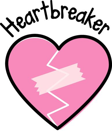 heartbreaker: Love is the flame that sets your hearts on fire!  Celebrate the month of love with this design on your Valentines projects! Illustration
