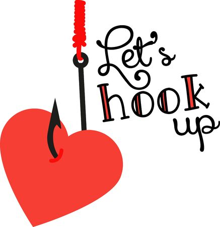 hook up: Love is in the air!  Set your hearts aflutter with this design on your holiday projects! Illustration