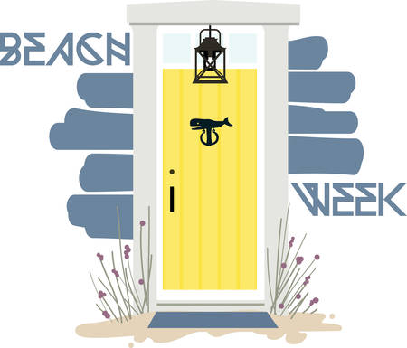would: What a heart warming beach house front door.  This design would be gorgeous on a beach towel or tote.