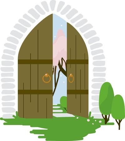 秘密の庭の門は、とても魅力的に見た! 枕、家の装飾や少女の毛布で使用します。