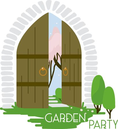archway: The secret garden gate never looked so inviting!  Use this on a pillow, home decor or a little girls blanket.