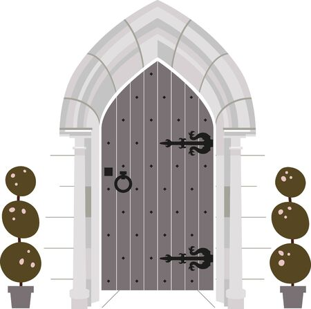 The queen of the castle will love this modern take on the castle door.  Use it on a napkin or kitchen towel.