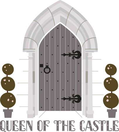 castle door: The queen of the castle will love this modern take on the castle door.  Use it on a napkin or kitchen towel.