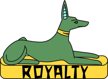 The Egyptian Saluki is notable for being the royal dog bred only by nobility!  Dog lovers delight in the adorable design on t-shirts, kitchen towels and more.