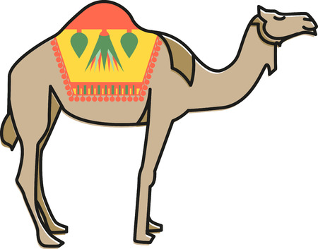 hump: Get close to nature like never before with this icon of the African desert on quilts, garments, or embroidery wall art.