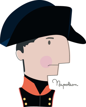 waterloo: Celebrate Napoleons legacy and his great leadership skills with this design on clothing, scarves, framed embroidery and more! Illustration