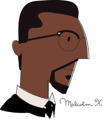 legacy: Show pride and celebrate the legacy of Malcolm Xs role in the liberation of people of African origin with this design on flags, banners, clothing and more! Illustration