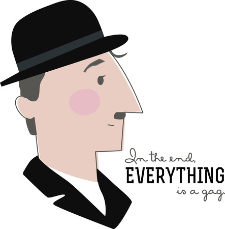 celebrities: A great design for the Charlie Chaplin  fans out there!  Get your awesome design on clothing, framed embroidery and more! Illustration