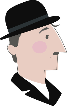 silent: A great design for the Charlie Chaplin  fans out there!  Get your awesome design on clothing, framed embroidery and more! Illustration